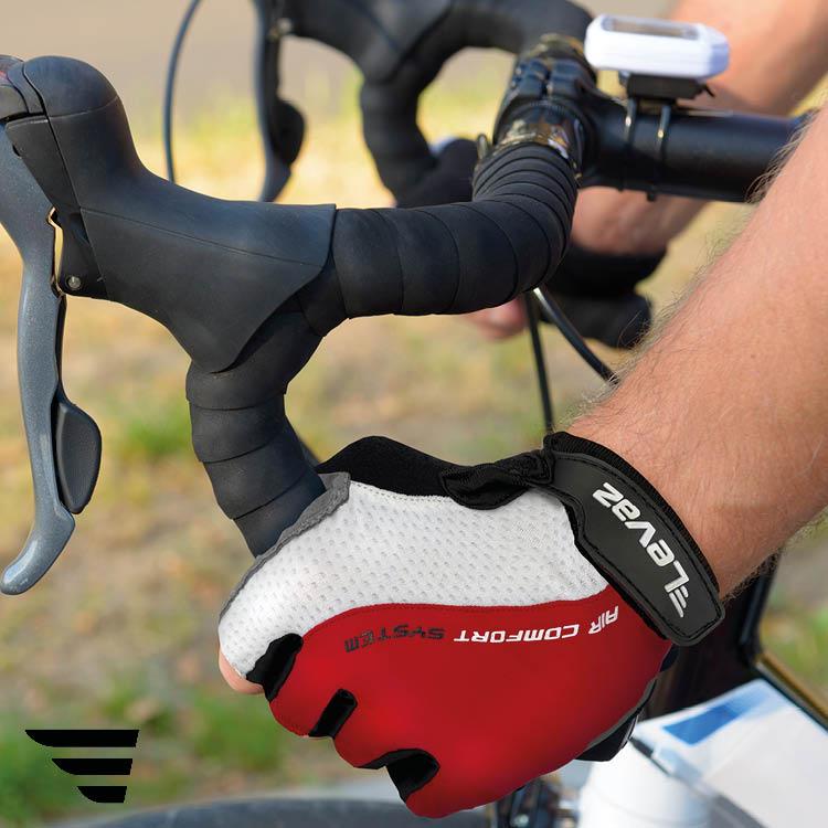 Fahrradhandschuh-Damen-Herren-Sommer-Rad-Handschuh-Fahrrad-Levaz-Pro-Rot