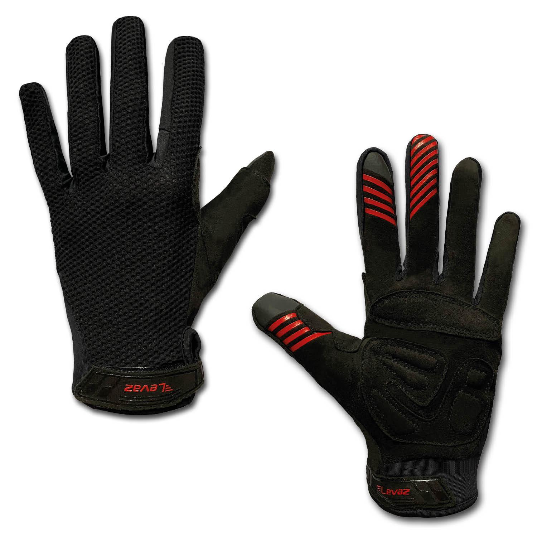 MTB-Handschuh-Mountainbike-Downhill-MX-Handschuhe-Fahrradhandschuhe-Sommer-schwarz
